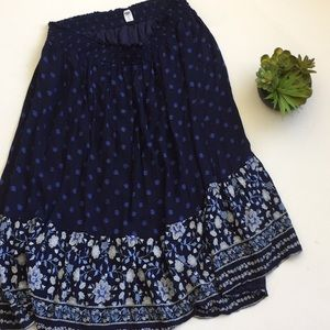Old Navy Floral Embroidered Midi Skirt
